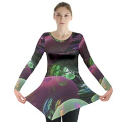 Creation Of The Rainbow Galaxy, Abstract Long Sleeve Tunic
