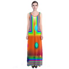 Crossroads Of Awakening, Abstract Rainbow Doorway  Full Print Maxi Dress