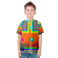 Crossroads Of Awakening, Abstract Rainbow Doorway  Kid s Cotton Tee