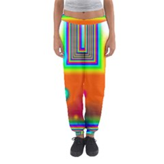 Crossroads Of Awakening, Abstract Rainbow Doorway  Women s Jogger Sweatpants