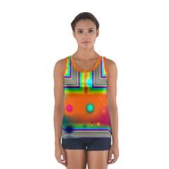 Crossroads Of Awakening, Abstract Rainbow Doorway  Tops