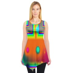 Crossroads Of Awakening, Abstract Rainbow Doorway  Sleeveless Tunic