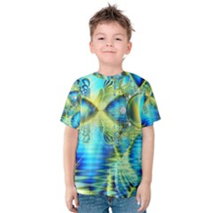 Crystal Lime Turquoise Heart Of Love, Abstract Kid s Cotton Tee