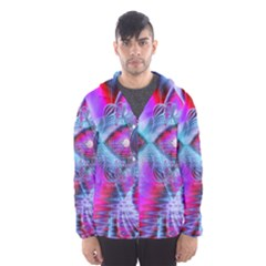 Crystal Northern Lights Palace, Abstract Ice  Hooded Wind Breaker (Men)