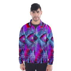 Crystal Northern Lights Palace, Abstract Ice  Wind Breaker (men)