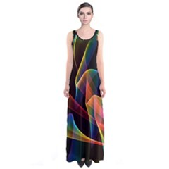 Crystal Rainbow, Abstract Winds Of Love  Full Print Maxi Dress