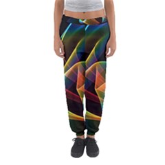 Crystal Rainbow, Abstract Winds Of Love  Women s Jogger Sweatpants