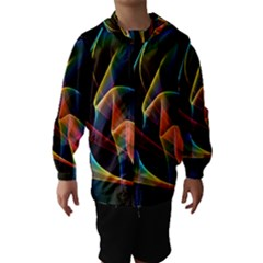 Crystal Rainbow, Abstract Winds Of Love  Hooded Wind Breaker (Kids)