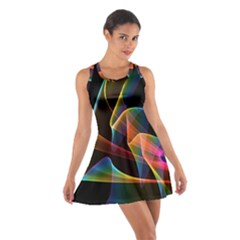 Crystal Rainbow, Abstract Winds Of Love  Racerback Dresses