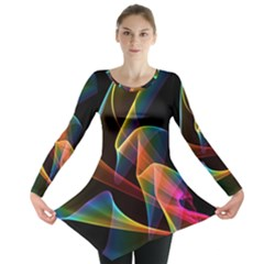 Crystal Rainbow, Abstract Winds Of Love  Long Sleeve Tunic