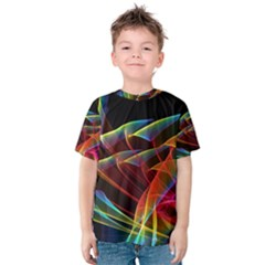 Dancing Northern Lights, Abstract Summer Sky  Kid s Cotton Tee