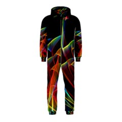 Dancing Northern Lights, Abstract Summer Sky  Hooded Jumpsuit (kids)