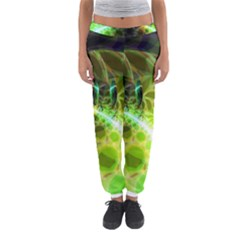 Dawn Of Time, Abstract Lime & Gold Emerge Women s Jogger Sweatpants