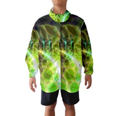 Dawn Of Time, Abstract Lime & Gold Emerge Wind Breaker (Kids)