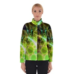 Dawn Of Time, Abstract Lime & Gold Emerge Winterwear