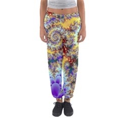 Desert Winds, Abstract Gold Purple Cactus  Women s Jogger Sweatpants