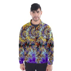 Desert Winds, Abstract Gold Purple Cactus  Wind Breaker (men)