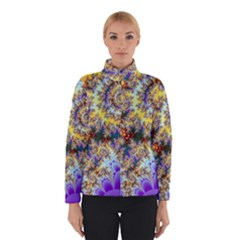 Desert Winds, Abstract Gold Purple Cactus  Winterwear