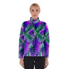 Evening Crystal Primrose, Abstract Night Flowers Winterwear