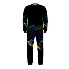Flowing Fabric Of Rainbow Light, Abstract  Onepiece Jumpsuit (kids)
