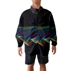 Flowing Fabric of Rainbow Light, Abstract  Wind Breaker (Kids)