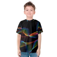 Fluted Cosmic Rafluted Cosmic Rainbow, Abstract Winds Kid s Cotton Tee