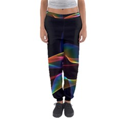 Fluted Cosmic Rafluted Cosmic Rainbow, Abstract Winds Women s Jogger Sweatpants