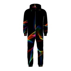 Fluted Cosmic Rafluted Cosmic Rainbow, Abstract Winds Hooded Jumpsuit (kids)