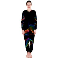 Fluted Cosmic Rafluted Cosmic Rainbow, Abstract Winds Onepiece Jumpsuit (ladies)