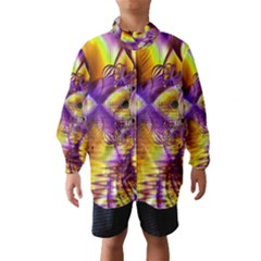 Golden Violet Crystal Palace, Abstract Cosmic Explosion Wind Breaker (Kids)