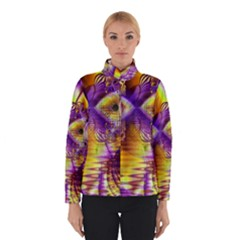 Golden Violet Crystal Palace, Abstract Cosmic Explosion Winterwear