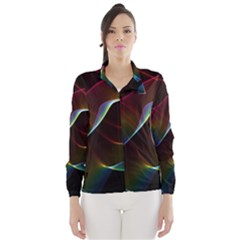 Imagine, Through The Abstract Rainbow Veil Wind Breaker (women)