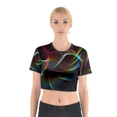 Imagine, Through The Abstract Rainbow Veil Cotton Crop Top