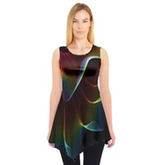 Imagine, Through The Abstract Rainbow Veil Sleeveless Tunic