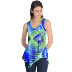 Irish Dream Under Abstract Cobalt Blue Skies Sleeveless Tunic