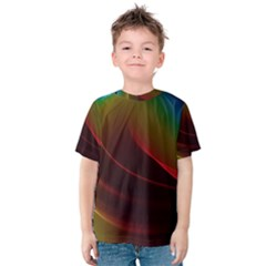 Liquid Rainbow, Abstract Wave Of Cosmic Energy  Kid s Cotton Tee