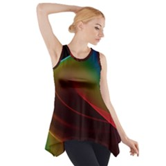 Liquid Rainbow, Abstract Wave Of Cosmic Energy  Side Drop Tank Tunic