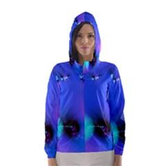 Love In Action, Pink, Purple, Blue Heartbeat 10000x7500 Hooded Wind Breaker (Women)