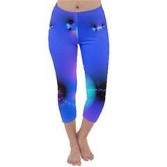 Love In Action, Pink, Purple, Blue Heartbeat 10000x7500 Capri Winter Leggings