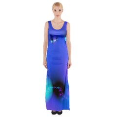 Love In Action, Pink, Purple, Blue Heartbeat 10000x7500 Maxi Thigh Split Dress