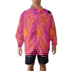 Magenta Boardwalk Carnival, Abstract Ocean Shimmer Wind Breaker (Kids)