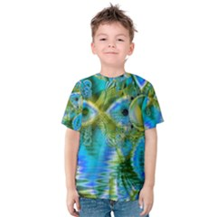 Mystical Spring, Abstract Crystal Renewal Kid s Cotton Tee