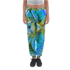 Mystical Spring, Abstract Crystal Renewal Women s Jogger Sweatpants