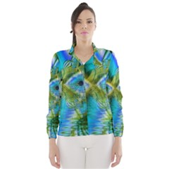 Mystical Spring, Abstract Crystal Renewal Wind Breaker (Women)