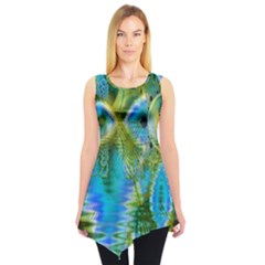 Mystical Spring, Abstract Crystal Renewal Sleeveless Tunic