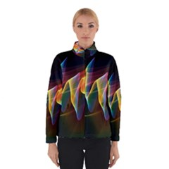Northern Lights, Abstract Rainbow Aurora Winterwear