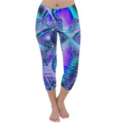 Peacock Crystal Palace Of Dreams, Abstract Capri Winter Leggings