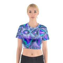 Peacock Crystal Palace Of Dreams, Abstract Cotton Crop Top