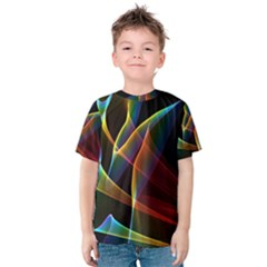 Peacock Symphony, Abstract Rainbow Music Kid s Cotton Tee