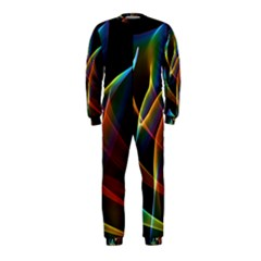 Peacock Symphony, Abstract Rainbow Music Onepiece Jumpsuit (kids)